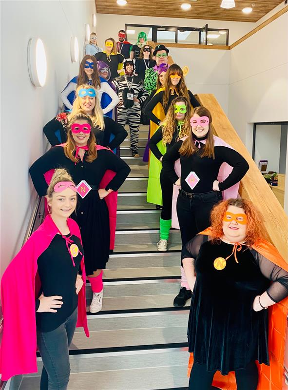Parklands ET Primary Comic Relief Staff Superheroes